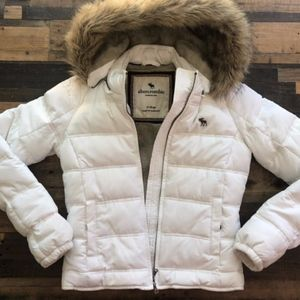 Puffy fur lined winter jacket